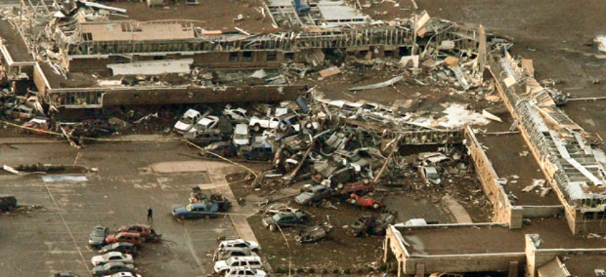 Oklahoma's Moore Medical Center was destroyed after it was hit by a massive tornado Monday.