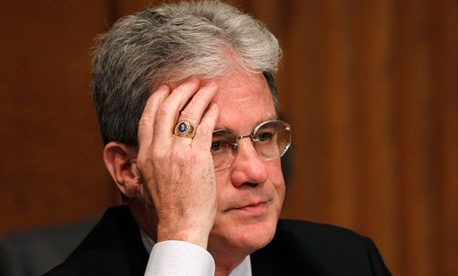 """It's wrong to force American families to fund the paychecks of federal employees who don't feel like paying their taxes,"" Sen. Tom Coburn, R-Okla., said."