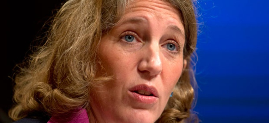 "Sylvia Burwell said she is working with the president to ""replace sequestration with a balanced deficit reduction plan."""