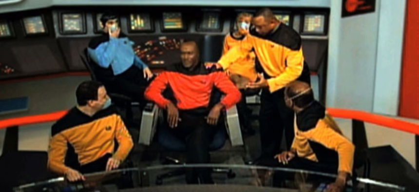 A Star Trek parody video starring IRS employees was among the projects cited in the report.