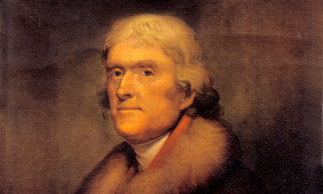 A portrait of Thomas Jefferson by artist Rembrandt Peale
