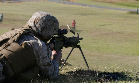 A Marine trains in Hawaii in 2011.