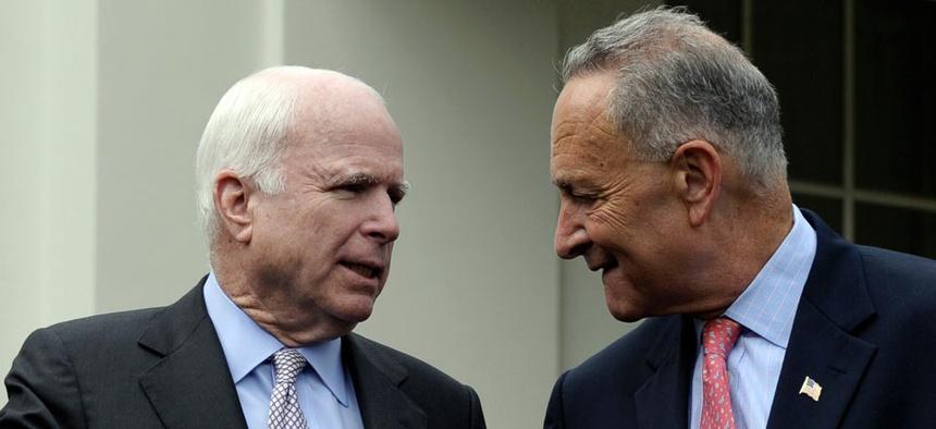 Republican Sen. John McCain and Democratic Sen. Chuck Schumer reached the deal Tuesday morning.
