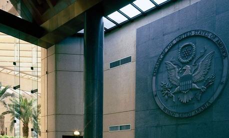 The United States Embassy in Riyadh, Saudi Arabia is among those closed.