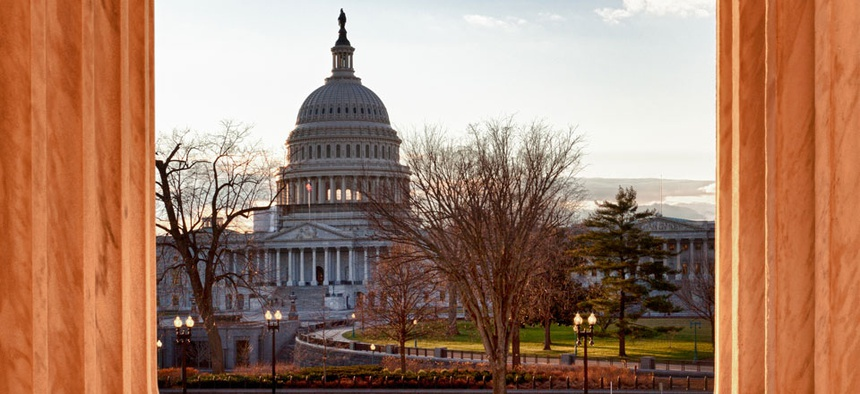 Congress enacting sequestration is seen as the reason for the federal job decrease, some say.