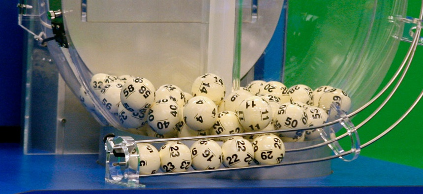 Powerball numbers are chosen in the drawing at the Florida Lottery in 2012.