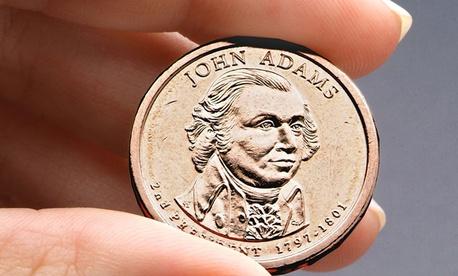 The President John Adams presidential $1 coin