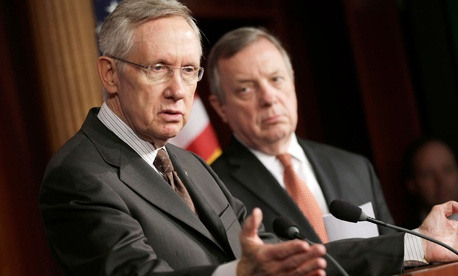 Senate Majority Harry Reid, D-Nev., with Senate Majority Whip Sen. Dick Durbin, D-Ill.,