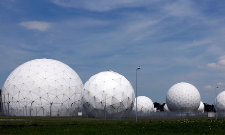 View of the former monitoring base of the U.S. intelligence organization National Security Agency, near Munich, Germany.