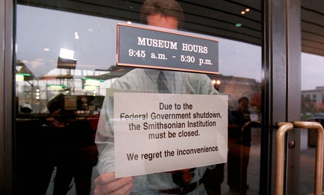 Smithsonian's Air and Space Museum was among the facilities closed during the government shutdown of 1995-1996.