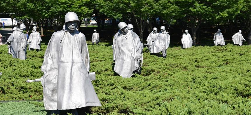 The Korean War Memorial is located in Washington, DC.
