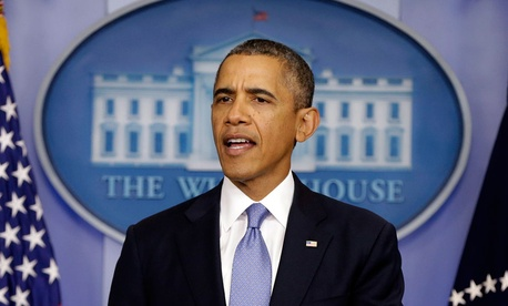 President Barack Obama speaks regarding the ongoing budget fight in Congress.