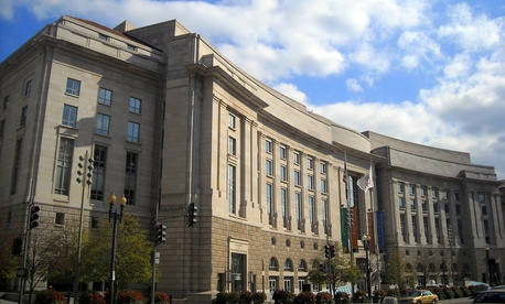 The Ronald Reagan Building in Washington, DC