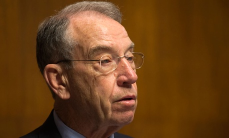 """I'm working,"" Sen. Chuck Grassley, R-Iowa, said. ""Everybody that works gets paid for working."""