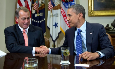 Obama and Boehner met to talk about the economy last November.