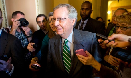 Mitch McConnell met with Harry Reid Monday about the deal.