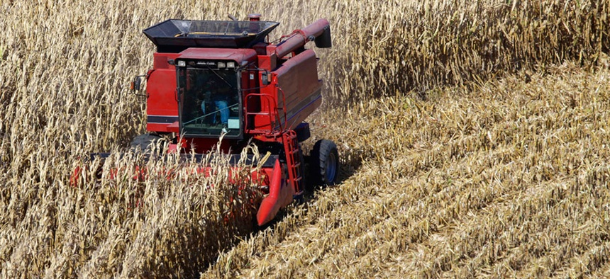 A corn harvest in Fort Calhoun, Nebraska
