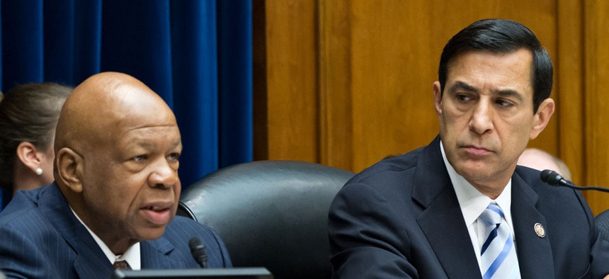 House Oversight and Government Reform Committee Ranking Member Elijah Cummings, D-Md.,left, and Chairman Darrell Issa, R-Calif., introduced the bill.