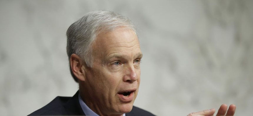 """When you start talking numbers and start throwing out charts and graphs, people's eyes glaze over,"" said  Sen. Ron Johnson, R-Wis."