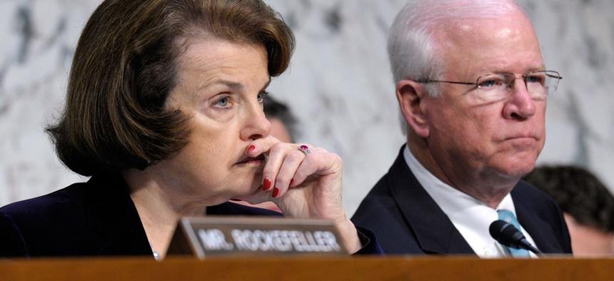 Senate Intelligence Committee Chairwoman Sen. Dianne Feinstein, D-Calif., left, and the committee ranking member Sen. Saxby Chambliss, R-Ga.