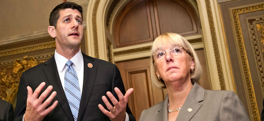 House Budget Chairman Paul Ryan, R-Wis., and Senate Budget Chairwoman Patty Murray, D-Wash.