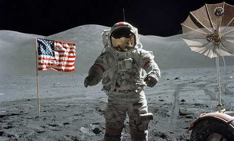 The Apollo 11 astronauts had to declare their samples on customs forms.