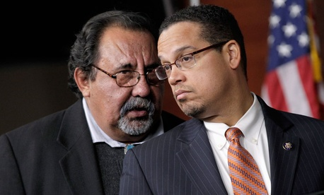 Rep. Keith Ellison, D-Minn., right, and Rep. Raul Grijalva, D-Ariz., left, are co-chairs of the Congressional Progressive Caucus.