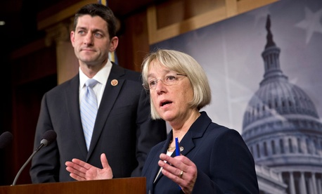 House Budget Committee Chairman Paul Ryan, R-Wis., left, and Senate Budget Committee Chairwoman Patty Murray, D-Wash.