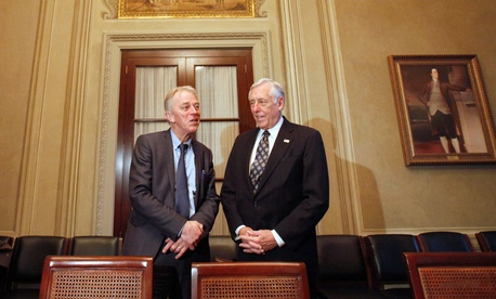 House Minority Whip Steny Hoyer of Md., right, met Danish Foreign Minister Villy Sovndal in 2011.