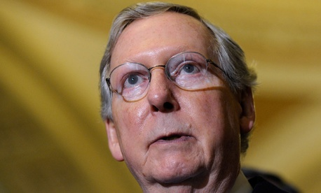 """""""I doubt that the House, or, for that matter, the Senate, is willing to give the president a clean debt-ceiling increase,"""" Senate Minority Leader Mitch McConnell told reporters Tuesday."""