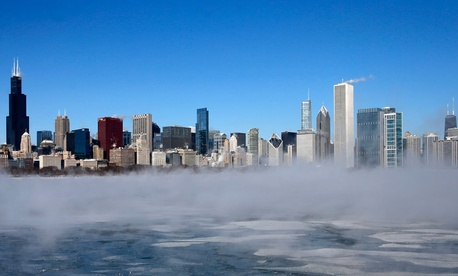 Weather conditions in Chicago have mostly shut down the city.