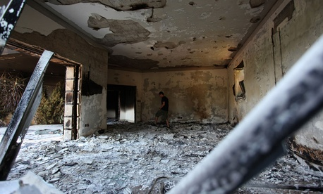 The U.S. consulate in Benghazi was destroyed in Sept. 2012.
