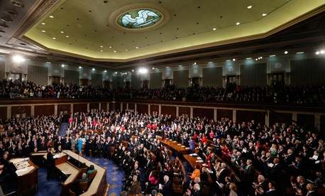 Obama delivered the 2013 State of the Union speech in February.