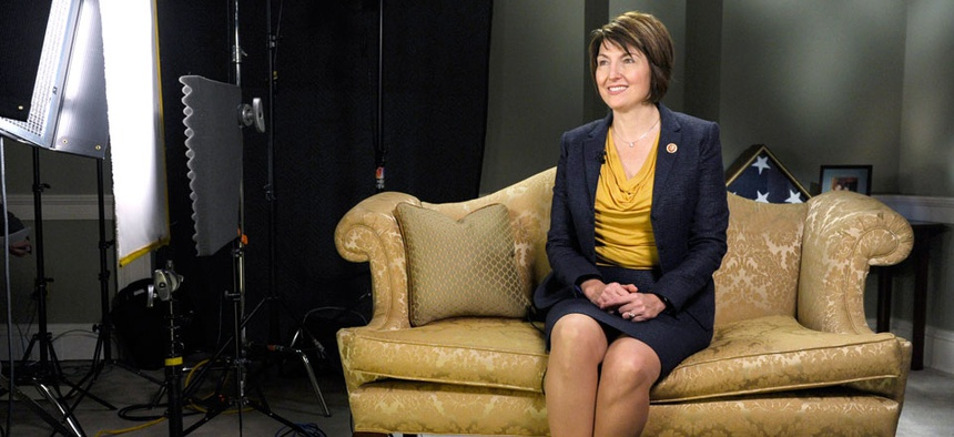 Rep. Cathy McMorris Rodgers, R-Wash., rehearses Tuesday before she gave one of the official Republican responses to the 2014 State of the Union.