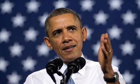 President Barack Obama speaks at General Electric's Waukesha Gas Engines facility, Thursday, Jan. 30, 2014.