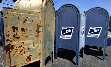 Discarded mailboxes, ... ]
