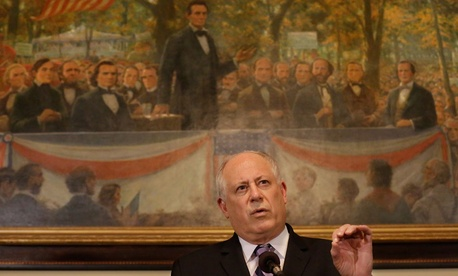 """There is no such thing as a Republican or Democratic response to a disaster,"" Illinois Gov. Pat Quinn said ."