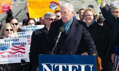 Rep. Steny Hoyer addressed NTEU members on Capitol Hill Thursday.