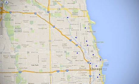 Chicago uses open 311 for a map of dog parks in the city.