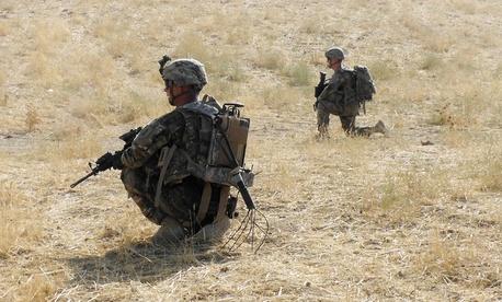 Soldiers patrol Kunduz, Afghanistan in 2013.