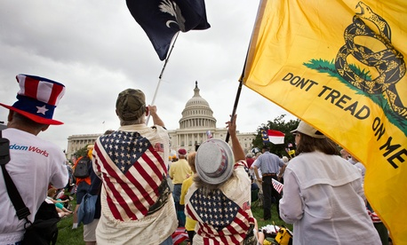 Tea Party activists have protested the federal government before, including this 2013 protest.