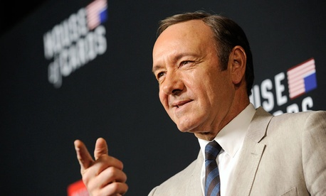 """Kevin Spacey arrives at a special screening for season 2 of """"House of Cards"""""""