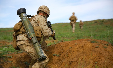 Marines participate in a training exercise at Camp Pendleton, Calif., in April.