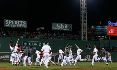 The Boston Red Sox won the 2013 World Series at Fenway Park in October.