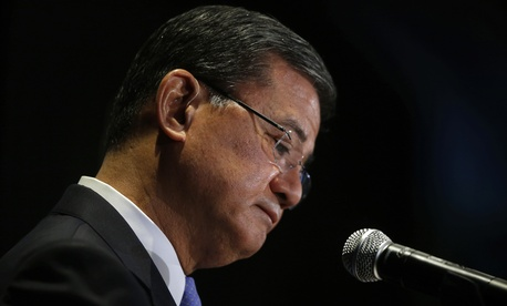 President Obama announced later Friday morning that Eric Shinseki would step down.