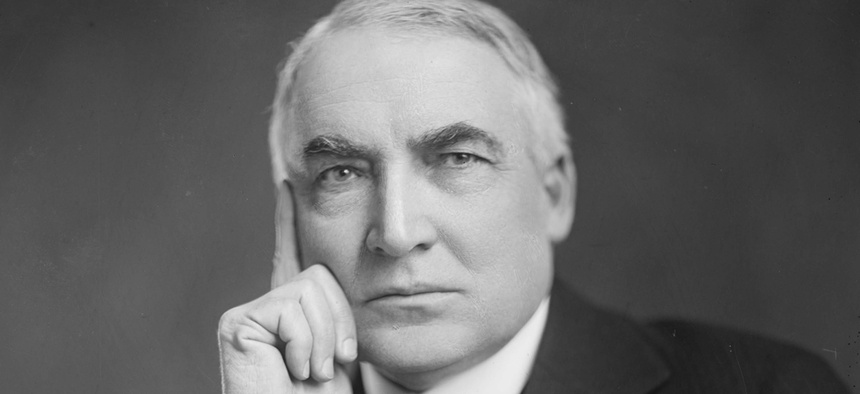 Sure, he looks calm in his presidential portrait, but President Harding was not afraid to choke federal officials.
