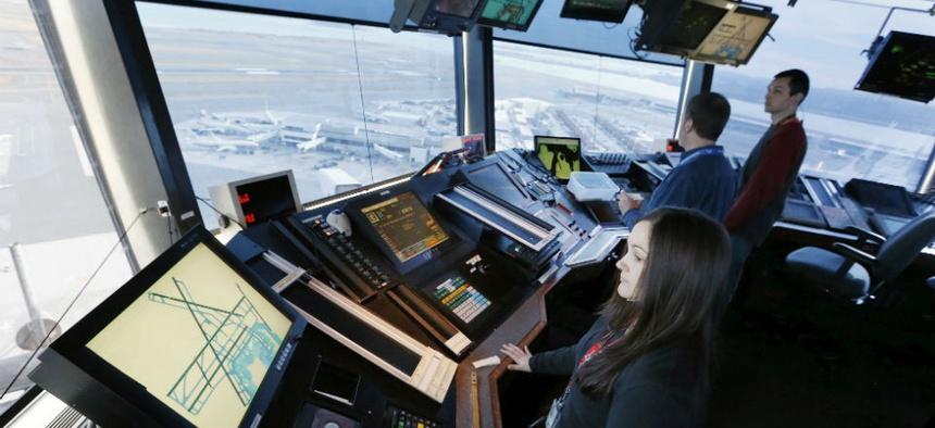 Air Traffic Controllers at Logan International Airport in Boston,