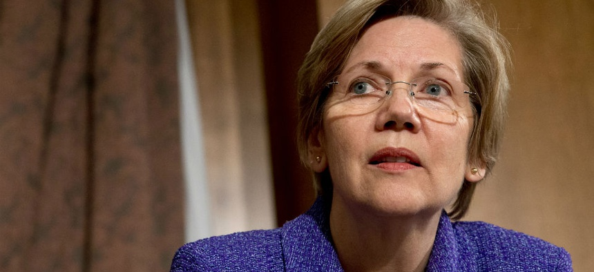Senate Banking Committee member Sen. Elizabeth Warren, D- Mass.