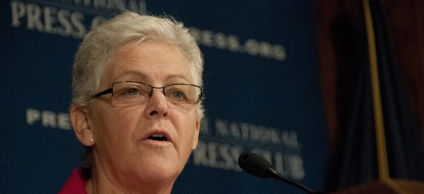 """I believe it is my obligation to provide the leadership and stewardship needed to ensure we grow the kind of organization that the dedicated, hardworking, professional public servants at EPA deserve,"" EPA's Gina McCarthy said."