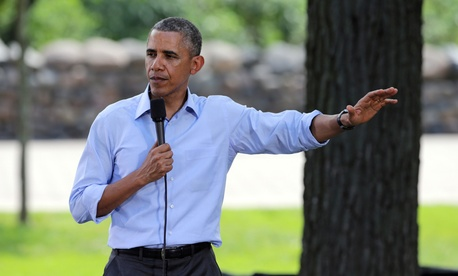 Obama made the comments at a town hall meeting at Minneapolis' Minnehaha Park.